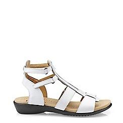 Hotter - White 'Liberty' Gladiator Sandals