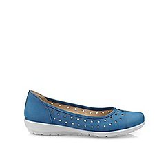 Hotter - Blue 'Livvy' wide fit ballet pumps