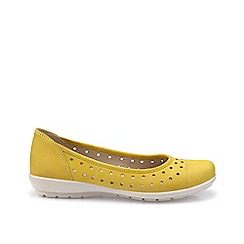 Hotter - Bright yellow 'Livvy' ballet pumps