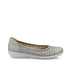 Hotter - Light grey 'Livvy' ballet pumps