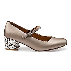 Hotter - Metallic 'Maria' touch closed shoes