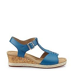 Hotter - Dark Blue 'Martinique' T-Bar Sandals