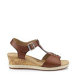 Hotter - Dark Tan 'Martinique' T-Bar Sandals