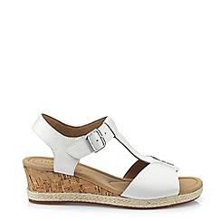 Hotter - White 'Martinique' T-Bar Sandals