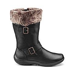 Hotter - Black 'Melody' biker boots