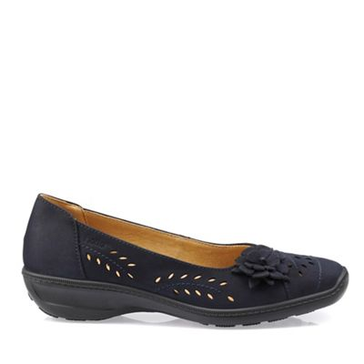 Hotter - Navy 'Mexico' wide fit ballet pumps