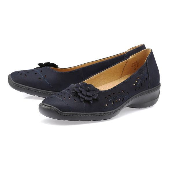 wide 'Mexico' ballet Navy pumps Hotter fit a6fFxRwq