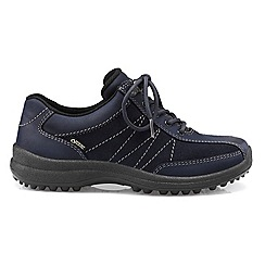 Hotter - Dark blue 'Mist GTX' wide fit lace-up shoes