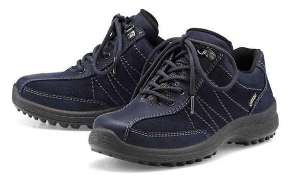 Hotter up Dark GTX' fit wide blue shoes lace 'Mist qWq0Z7Txr