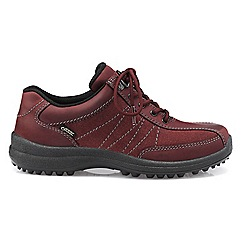 Hotter - Maroon 'Mist GTX' wide fit lace-up shoes