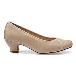 Hotter - Beige 'Monica' heeled shoes