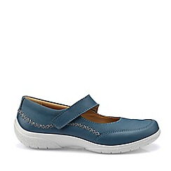 Hotter - Blue 'Mystic' Wide Fit Mary Janes Shoes