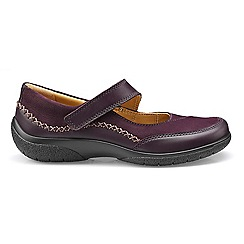 Hotter - Plum 'Mystic' wide fit Mary Janes