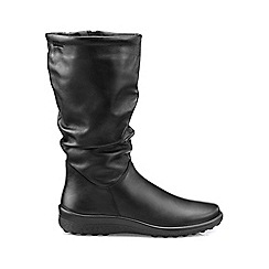 Hotter - Black 'Mystery' wide fit calf boots