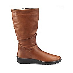 Hotter - Dark tan 'Mystery' wide fit calf boots