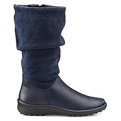 Hotter - Navy 'Mystery' calf boots