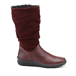 Hotter - Maroon 'Mystery' calf boots