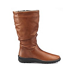 Hotter - Dark tan 'Mystery' calf boots
