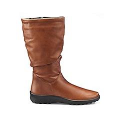 Hotter - Dark tan 'Mystery' calf boots