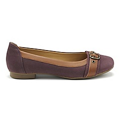 Hotter - Plum 'Natalia' ballet pumps
