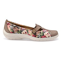 Hotter - Taupe 'Nirvana' wide fit pump shoes