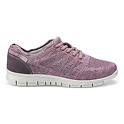 Hotter - Mauve 'Nova' lace-up trainers