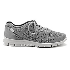 Hotter - Grey 'Nova' lace up trainers