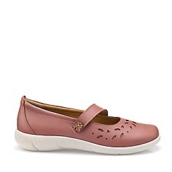 Hotter - Dark Peach 'Peace' Mary Janes Shoes