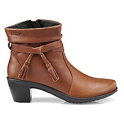 Hotter - Dark tan 'Phoebe' heeled ankle boots