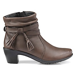 Hotter - Light brown 'Phoebe' heeled ankle boots