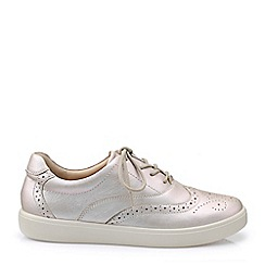 Hotter - Light pink 'Piper' lace-up shoes