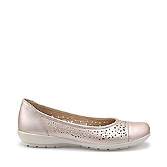 Hotter - Light pink 'Precious' wide fit ballet pumps