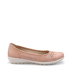 Hotter - Pale pink 'Precious' wide fit ballet pumps