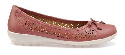 Hotter - Light pink 'Precious' ballet pump shoes