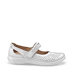 Hotter - White 'Quake' wide fit mary jane shoes
