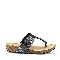 Hotter - Metallic 'Resort' Mule Sandals