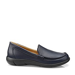Hotter - Navy 'Retro' Wide Fit Moccasins
