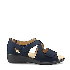 Hotter - Navy 'Riga' Extra Wide Slingback Sandals