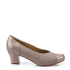 Hotter - Camel 'Rosa' Mid Heel Court Shoes