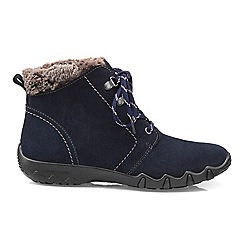 Hotter - Navy 'Ruby' wide fit ankle boots