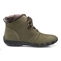 Hotter - Light olive 'Ruby' ankle boots