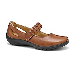 Hotter - Tan leather 'Shake' wide fit Mary Janes