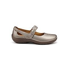 Hotter - Metallic leather 'Shake' mary jane shoes