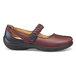 Hotter - Maroon 'Shake' wide fit Mary Janes