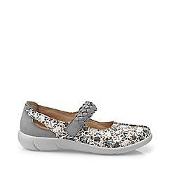 Hotter - Grey 'Shake' mary jane shoes