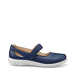 Hotter - Dark blue 'Shake' extra wide fit mary jane shoes