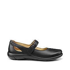 Hotter - Black 'Shake' extra wide fit mary jane shoes