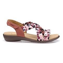 Hotter Dark Pink Shimmer P Toe Sandals