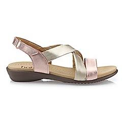 Hotter - Dark Gold 'Shimmer' Slingback Sandals