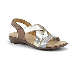 Hotter - Metallic 'Shimmer' peep toe sandals